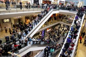 Prepare for Disney by visiting crowded shopping malls