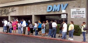 Prepare for long lines at Disney parks by waiting at DMV without an appointment.