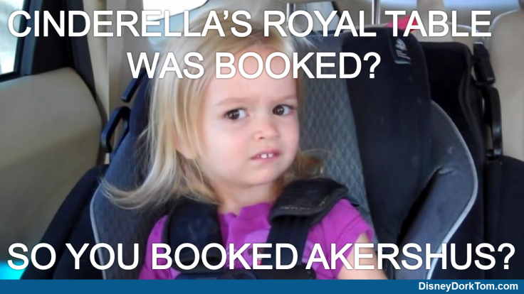 Cinderella's royal table instead of akershus